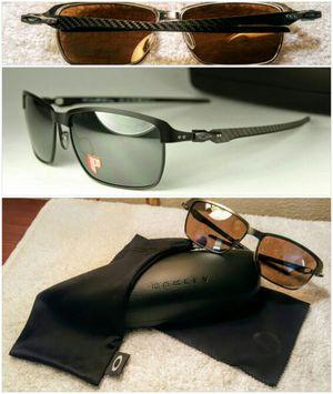 *Oakley* Carbon Fiber Polarized Aviator Sunglasses