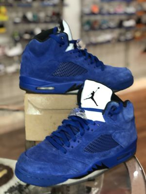 Blue suede 5s size 10