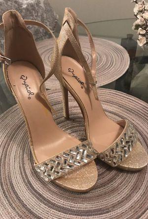 Crystal Embellished High Heels