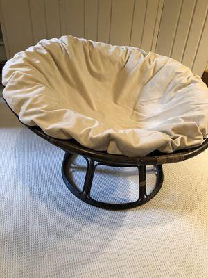 Papasan Chair with Custom-made Reversible Cushion