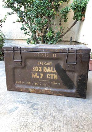 Vintage Metal Ammo Box Circa 1945 303 Mk7 WWII