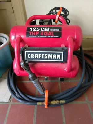 4 gallon Air Compressor with air hose and air gun, for mechanical use
