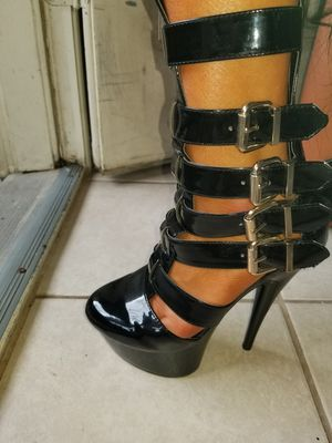 Sexy Strappy boots size 6