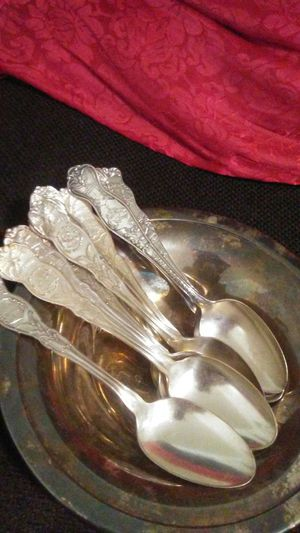 Old silver, silverware