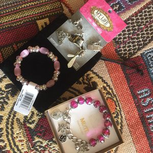 Jewelry - Fun accessories to chose from / My LIFE Charms $15 , Soft pink + crystals fashion bracelets $ 10 / Mix It charm bracelet in box $20 🌿🌷🌿