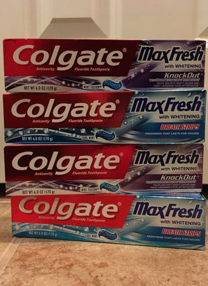 Set of 4 Colgate Toothpaste