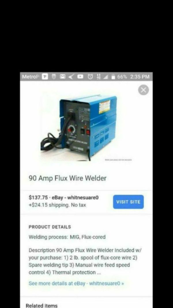 90 AMP FLUX WIRE WELDER BY CHICAGO ELECTRIC (Tools & Machinery) in ...