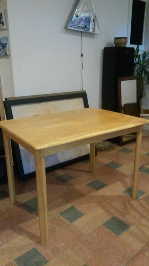 New solid maple wood dining table