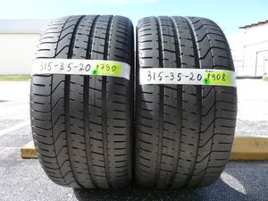 G168 315 35 20 Pirelli Pzero BMW Run Flat 2 used tires 90% life