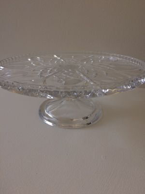 ** MUST SELL TODAY - Crystal Cake Plate