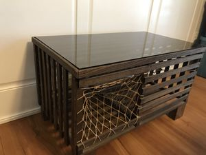 Crab/Lobster Trap Coffee Table w/Glass Top