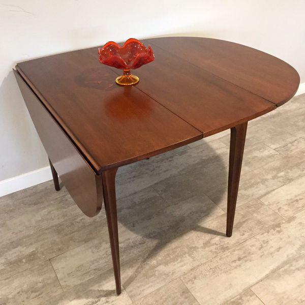 Broyhill Brasilia Drop Leaf Mid Century Modern Walnut Dining Table