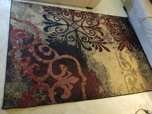 Multicolored floral fleece area rug