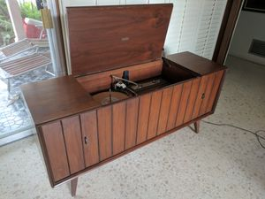 Mid century zenith stereo HiFi console