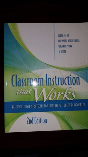 Classroom Instruction that works. 2nd edition