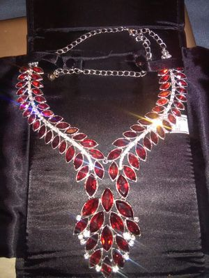 New red cz necklace