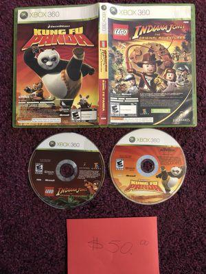 Xbox360 Indiana Jones & Kung fu panda