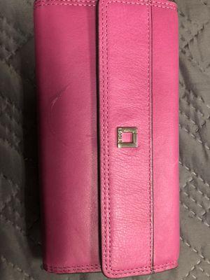 Lodis pink long wallet