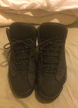Air Jordan's black Cat 13's used but good condition