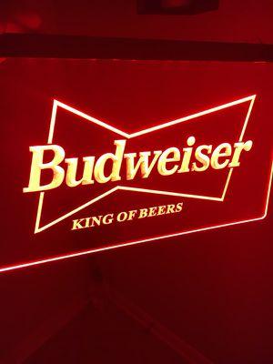 BUDWEISER LOGO LED LIGHT SIGN. BRAND NEW!