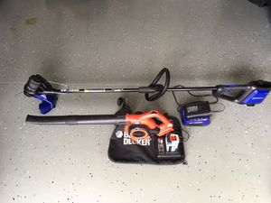 A Trimmer (kobalt) & A Blower for free(Black & Decker)