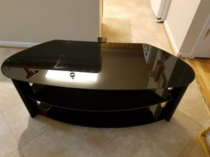 TV stand all glass black