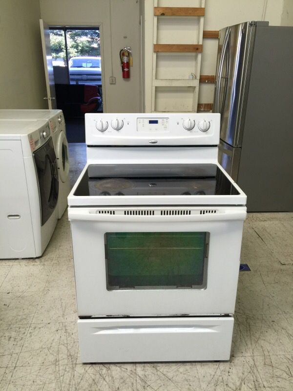 Glass Top Electric Stove ~ Whirlpool glass top electric stove appliances in san