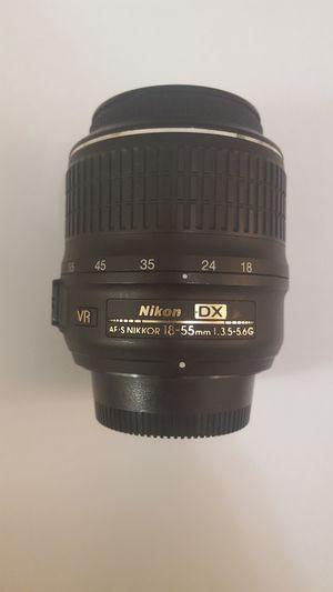 Nikon DX 18-55mm lense.