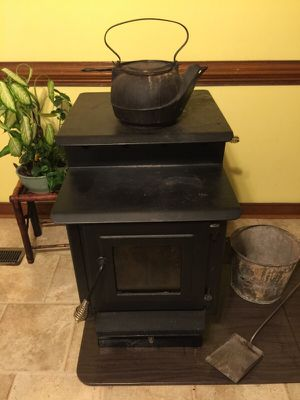 Beautiful pedestal wood stove just in time for winter