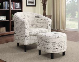 Accent chair w ottoman