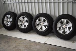 2015 Chevy Silverado 1500 17 in rims and tires
