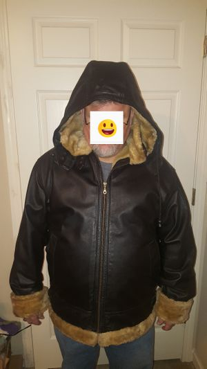 Men's leather jackets XL.