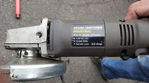 Sears Craftsman 4 1/2 inch angle grinder.