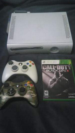 Xbox360 with all wires, 2 wireless controllers and black ops 2