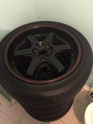 "18"" Akita Wheels Tires Rims 5x114.3 5x100"