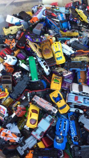 Full bin of cars
