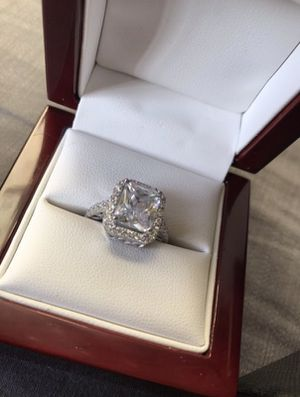 Diamond Simulate Engagement Ring