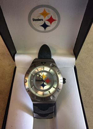 Steeler's game time watch.