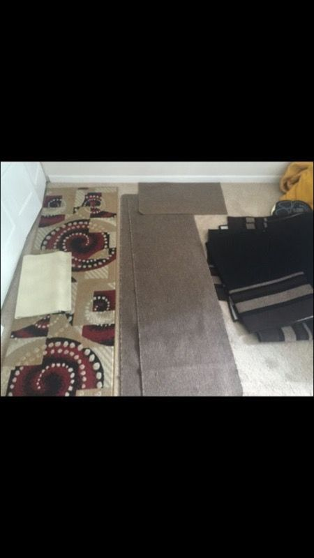 Area rugs, runners, welcome mats
