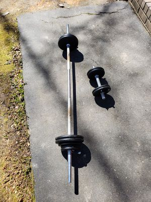 Steel weights and bars