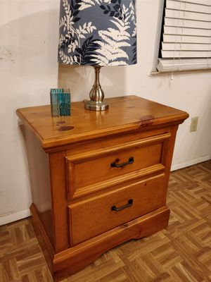 Like new solid wood night stand with big drawers in very good condition, all drawers sliding smoothly