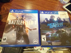 Ps4 games battlefield 1 & need for speed