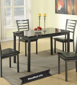 5 Piece Dining room Set under $300 or as low as $10.74 per week.. please visit iNeedBed.info for more details
