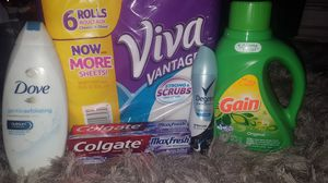 Dove, Viva, Gain, Degree, Colgate bundle.