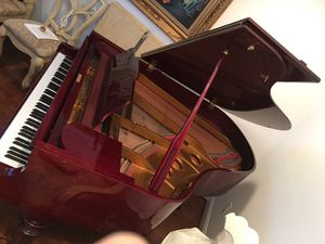 Grand piano shiny cherry color61""