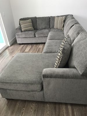 Grey loric brand new sectional couch