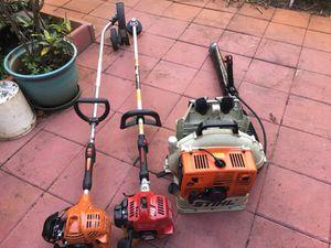 Lawn equipment Redmax, Echo, Stihl