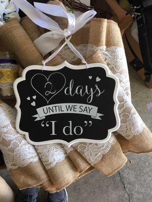 Cute chalkboard wedding sign