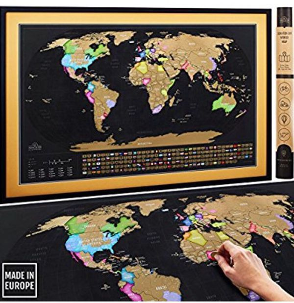Scratch off map of the world xl poster deluxe extra large 35 x 23 scratch off map of the world xl poster deluxe extra large 35 x 23 premium travel tracker print w country flags us states outlined made in eu gumiabroncs Gallery