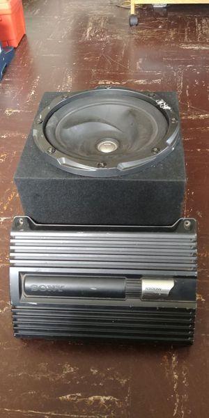 "Kenwood 12"" woofer 1000w with SONY power Amplifier 2/1 1000w"